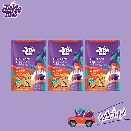 Tickle Time Eggplant Chips - Paprika Flavor (Pack-3)