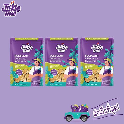 Tickle Time Eggplant Chips - Original Flavor (Pack-3)