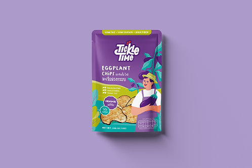 Tickle Time Eggplant Chips - Original Flavor