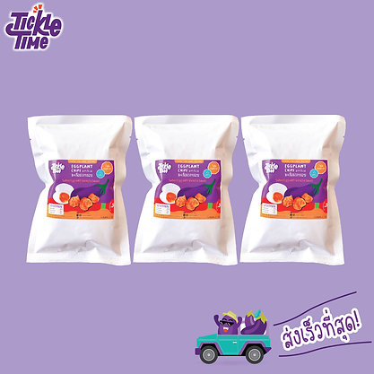 Tickle Time Eggplant Chips - Salted Egg with Sriracha Sauce Flavor (Pack-3)
