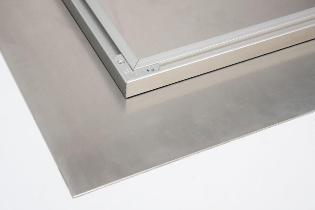 aluminium back of art frame