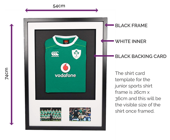 Infant Black 3 D Sports Shirt With Mount & Pics
