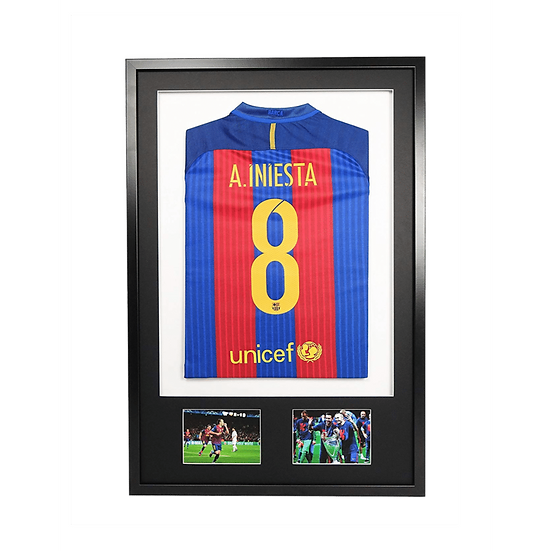 Adult Black 3-D Sport Shirt Frame With Mount & Pictures
