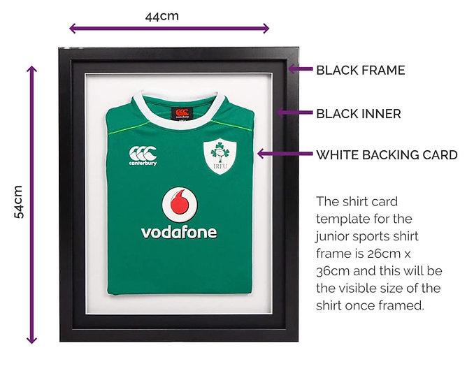 Infant Black 3-D Sport Shirt Frame - With Mount