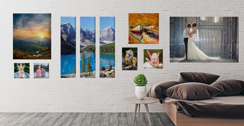 aluminium wall art