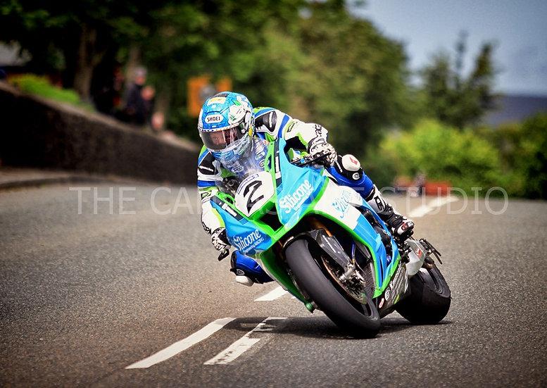 Dean Harrison (close-up)- Super-bike Race 1