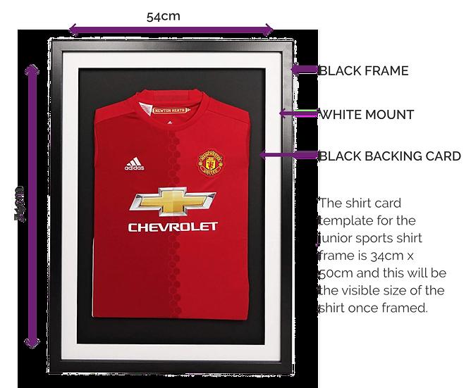 Junior Black 3-D Sport Shirt Frame - With Mount