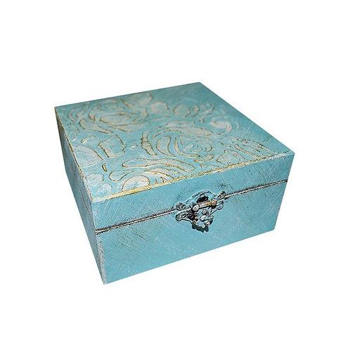 Pudełko drewniane Blue
