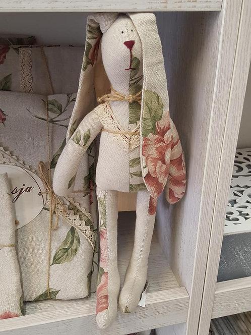 Zajączek króliczek ręcznie robiony Large pink Rose