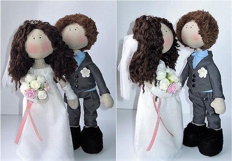 Lalki ślubne: Para młoda (rękodzieło)