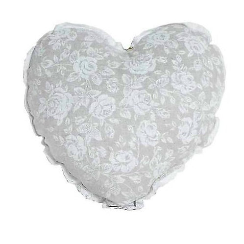Poduszka dekoracyjna White Rose serce