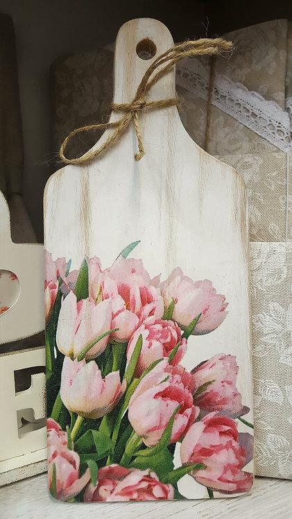 Dekoracyjna deska do krojenia tulipany