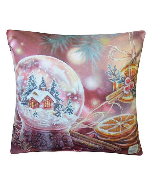 Poszewka dekoracyjna świąteczna kula śnieżna