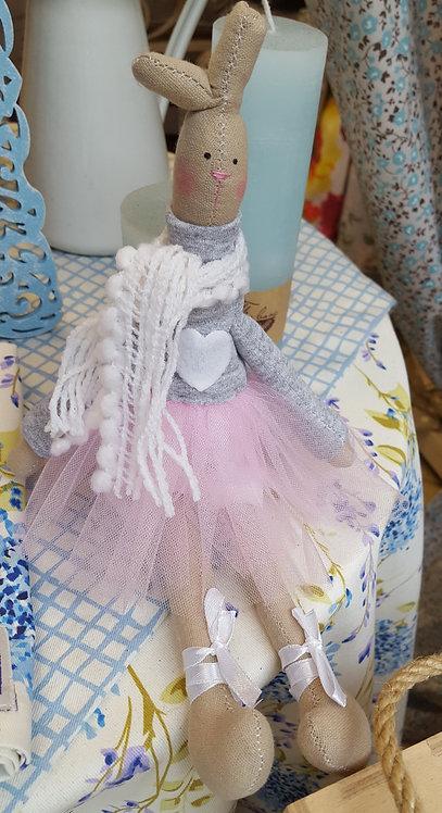 Zajączek, króliczek baletnica pracy ręcznej!