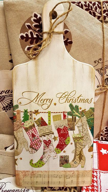 Dekoracyjna deska do krojenia Merry Christmas