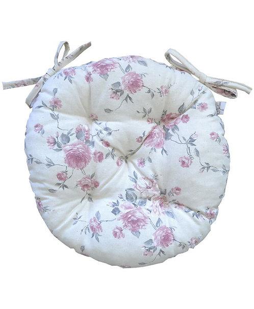 Siedzisko Bella róża z koronką okrągłe