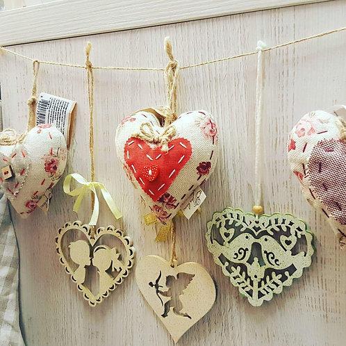 Zawieszka serce drewniane