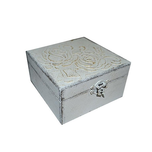 Pudełko drewniane White