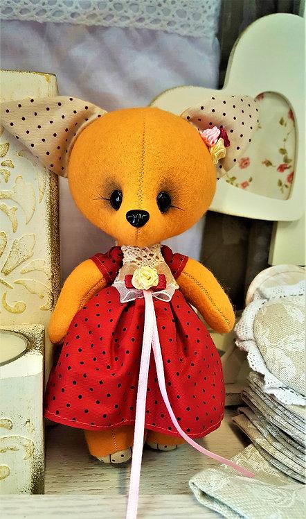 Lis dziewczynka z filcu