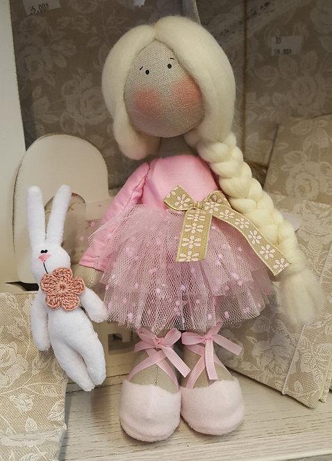 Stojące Lale.Laleczka lalka baletnica pracy ręcznej, rękodzieło