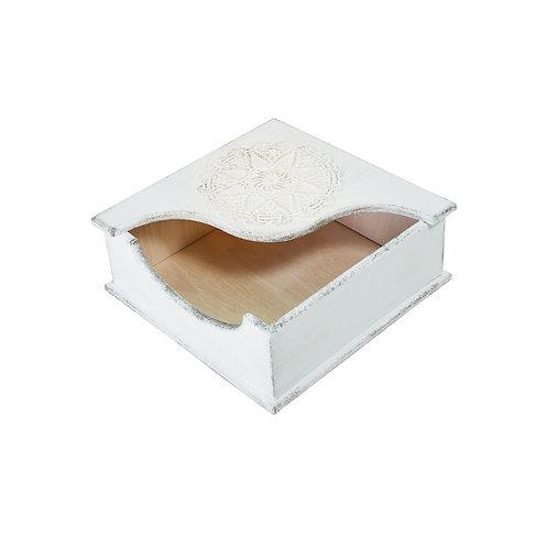 Serwetnik Drewniany Biały