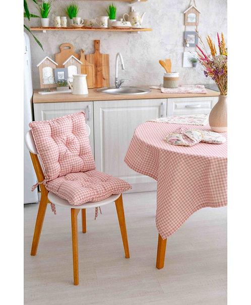 Siedzisko Bella różowa krateczka