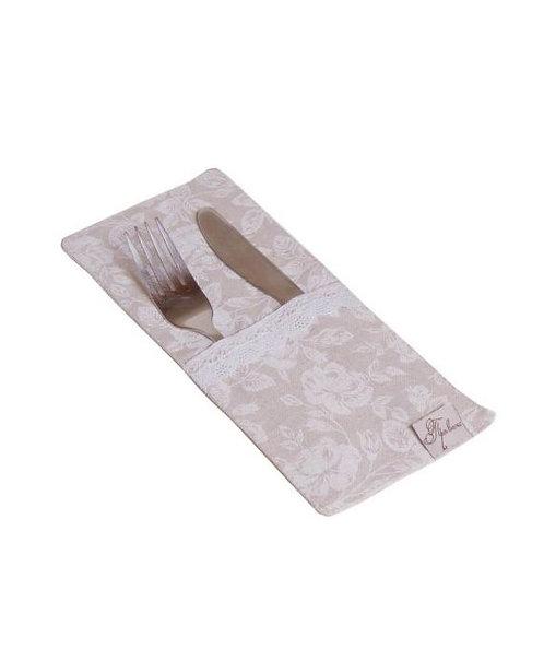 Etui na sztućce White Rose (kieszonka,ubranko)