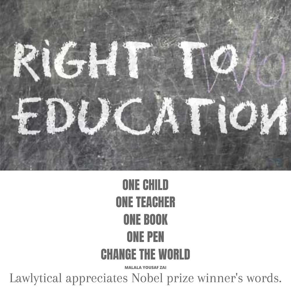 A motivational quote by Malala Yousafzai