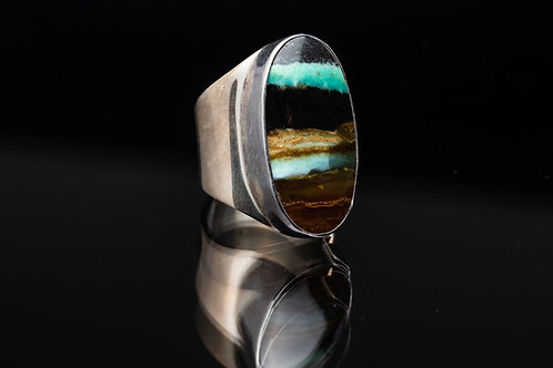 Petrified Opal Wood Ring