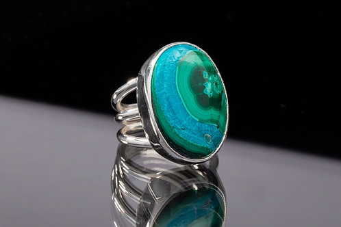 Malachite Chrysocolla Ring
