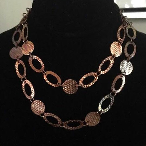 Hammered and Textured Copper Chain