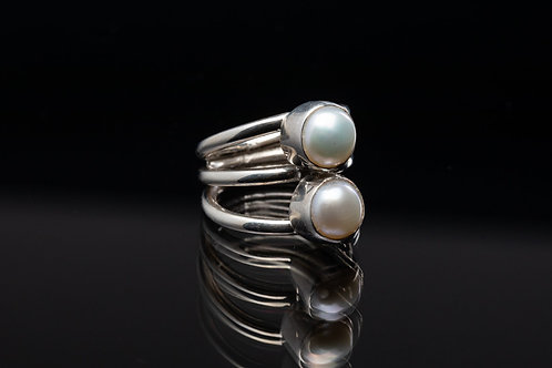 Double Freshwater Pearl Ring