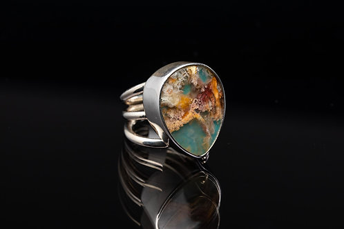 Sea Coral Agate Ring