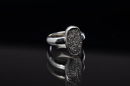 Platinum Drusy Ring