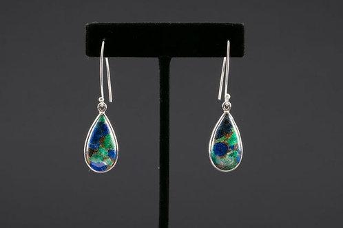 Azurite Malachite Earring