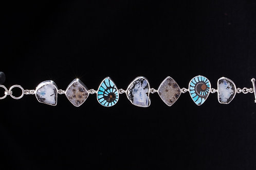 Mixed stone link Bracelet