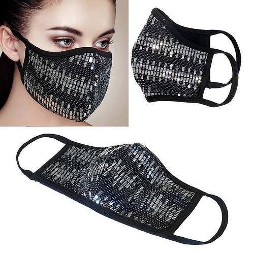Facemask - Silver Rectangle
