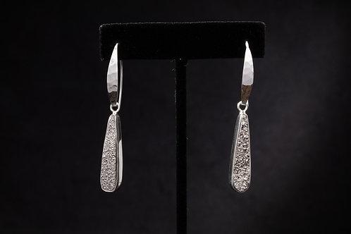 Platinum Drusy Quartz earring
