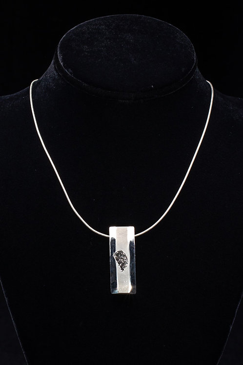 Platinum Drusy Quartz Slider