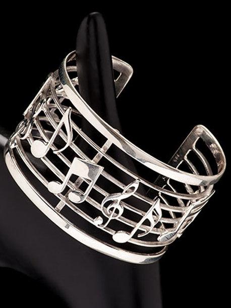 Sterling Silver Symphony Cuff Bracelet