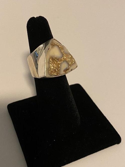 Gold drusy ring