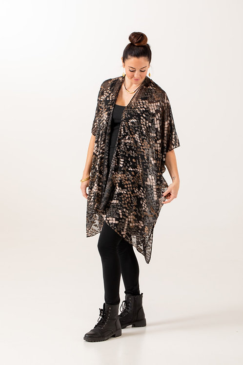 Boho Chic Velvet Kimono