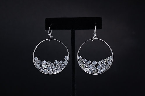 Sliced Diamond Earrings