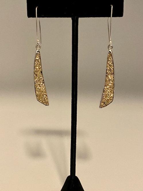 Gold drusy earrings