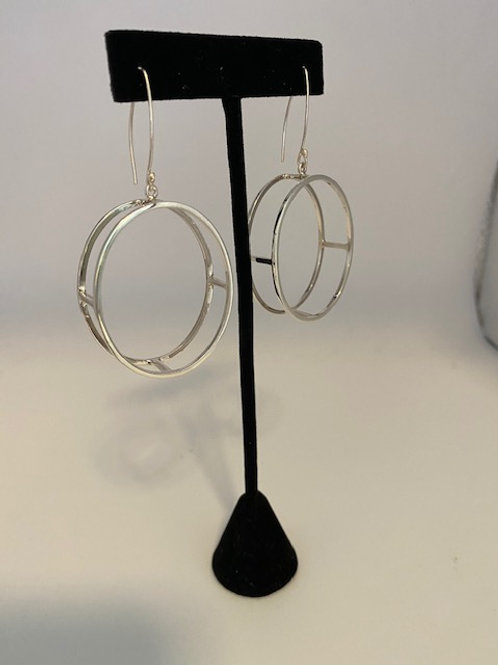 3 dimensional oval hoops (Large)