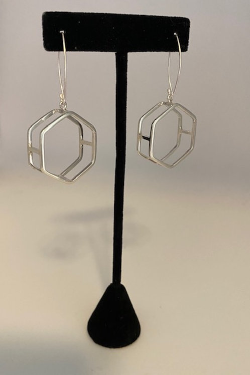 3 dimensional hexagon hoops (Large)
