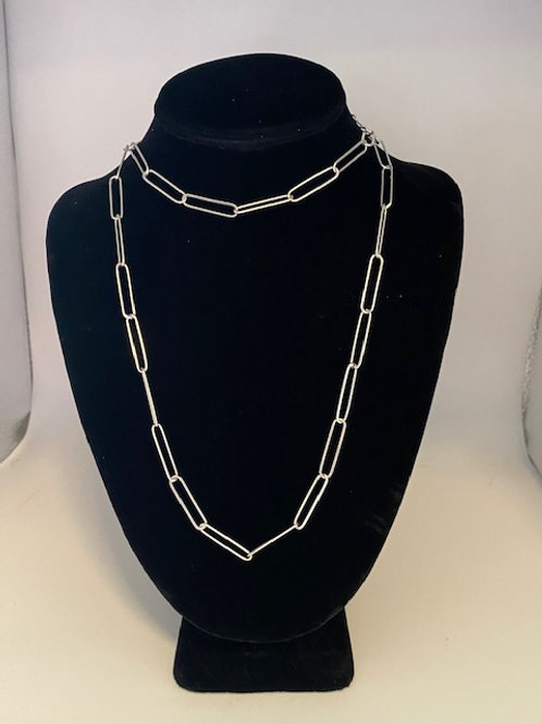 "Contemporary ""paperclip"" necklace"