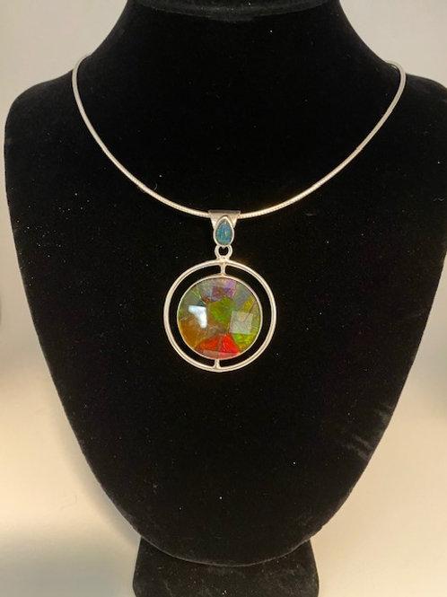 Circular Ammolite necklace