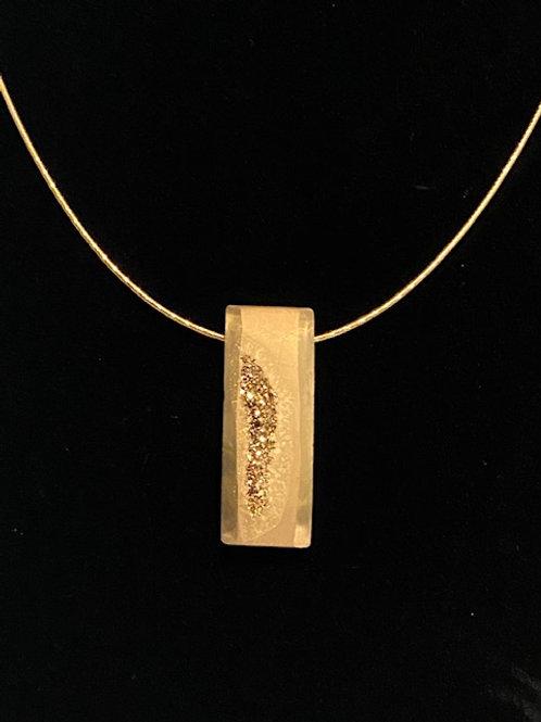 Gold  drusy Quartz slider