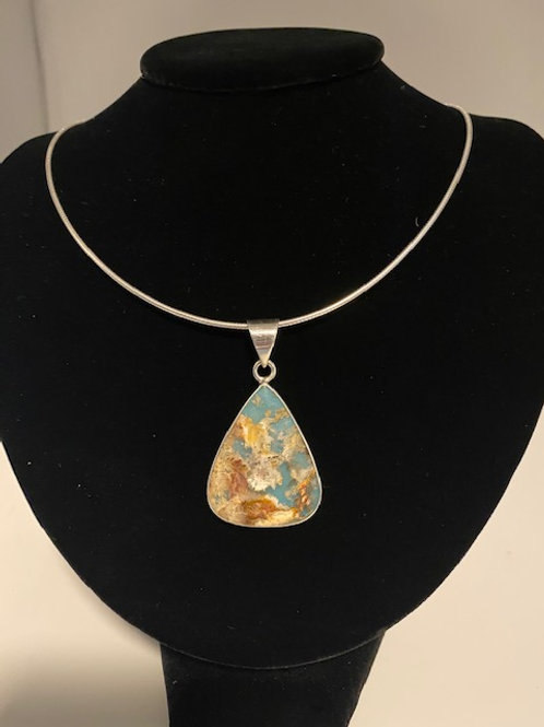 Sea coral agate necklace